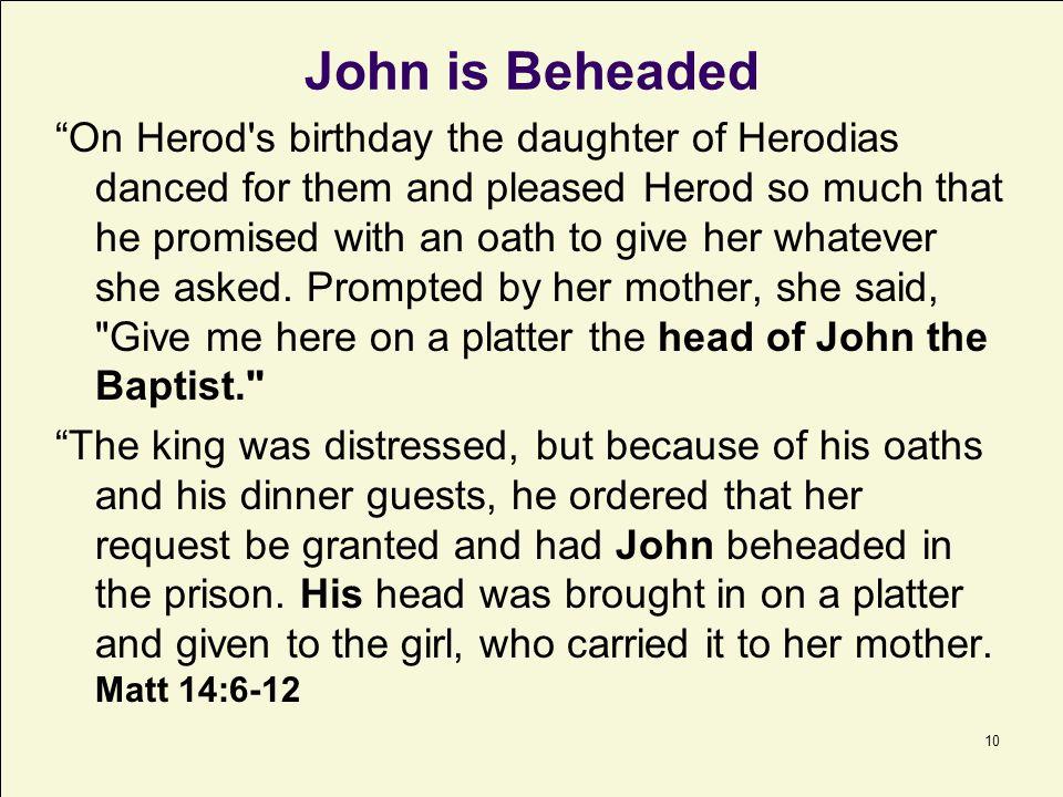 John is Beheaded