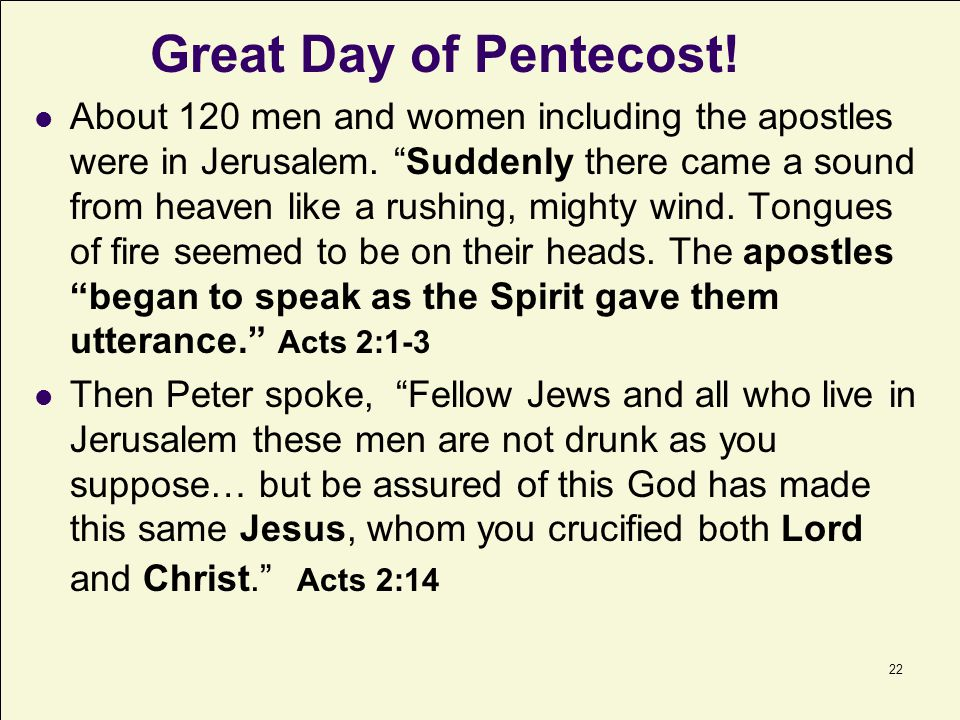 Great Day of Pentecost!
