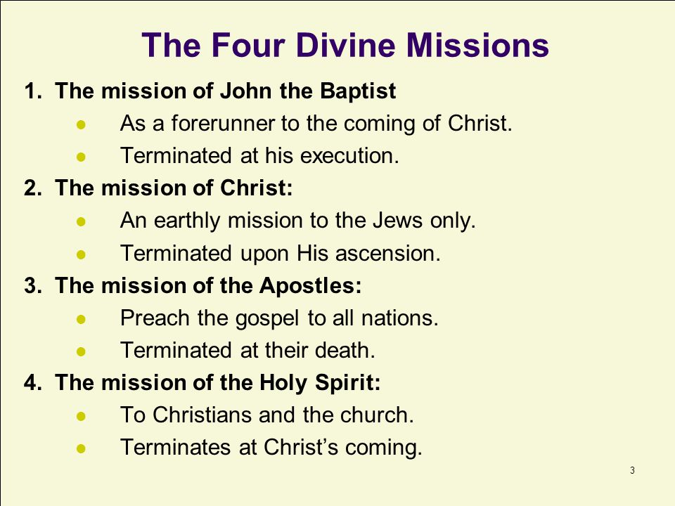The Four Divine Missions