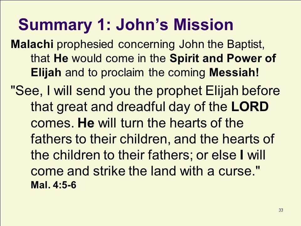 Summary 1: John's Mission