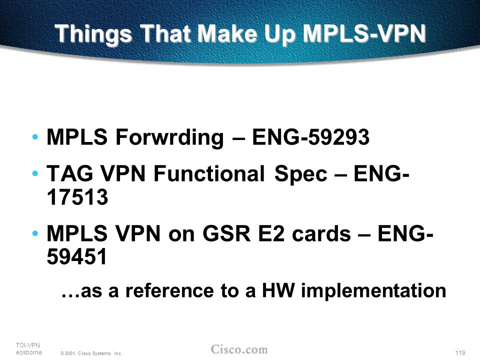 Things That Make Up MPLS-VPN