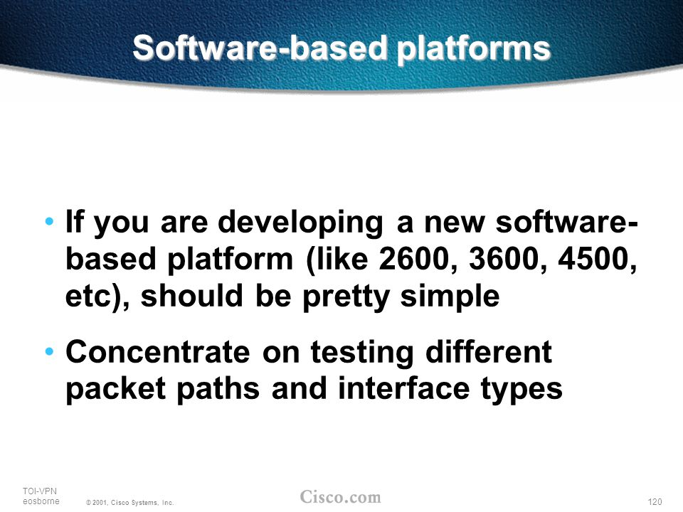 Software-based platforms