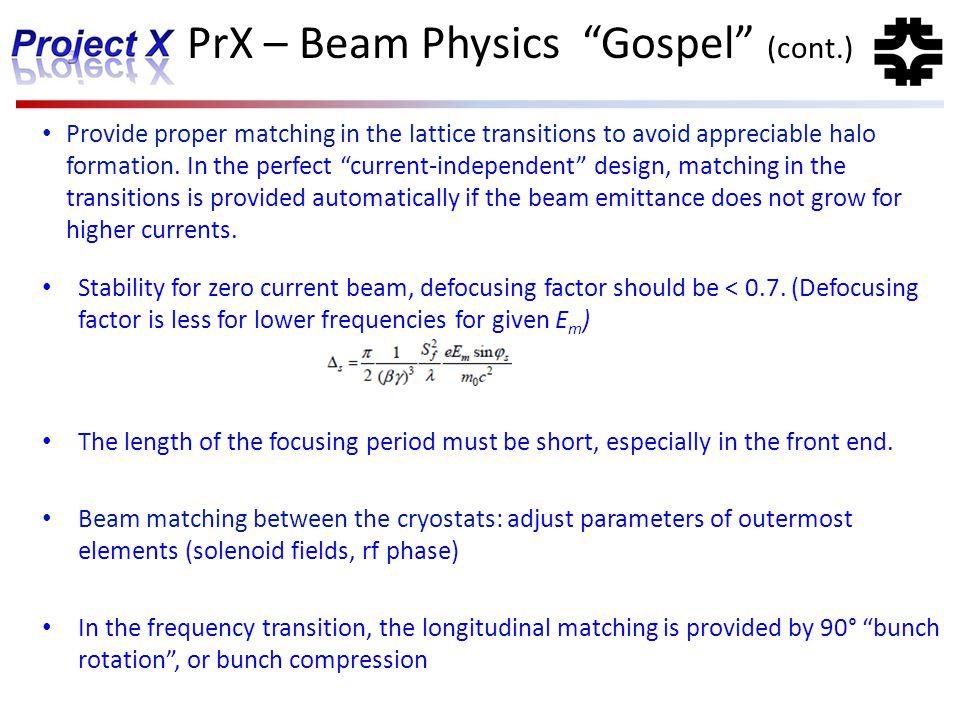 PrX – Beam Physics Gospel (cont.)