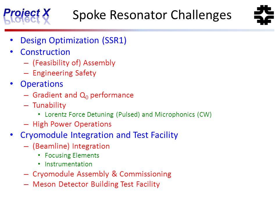 Spoke Resonator Challenges