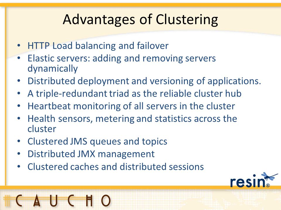 Advantages of Clustering