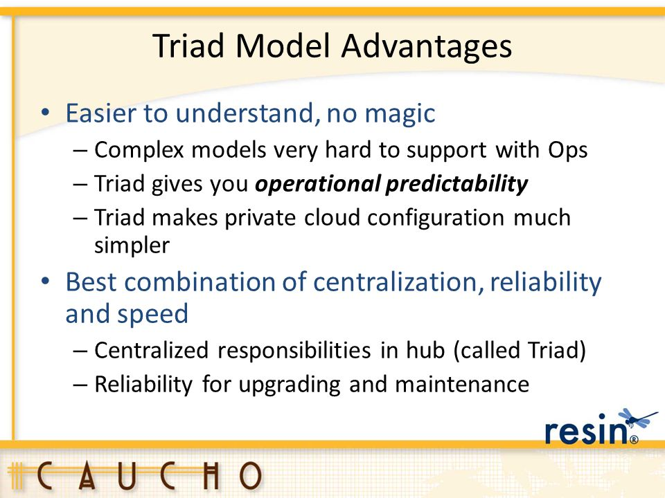 Triad Model Advantages