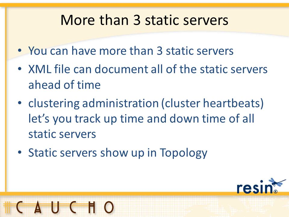 More than 3 static servers
