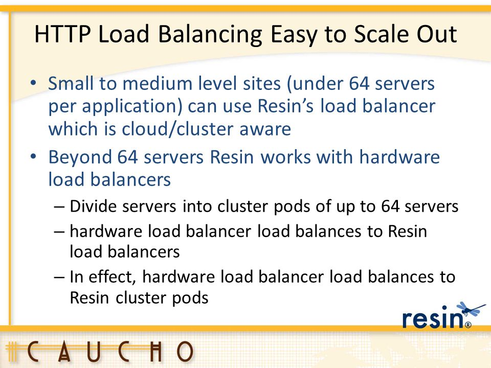 HTTP Load Balancing Easy to Scale Out