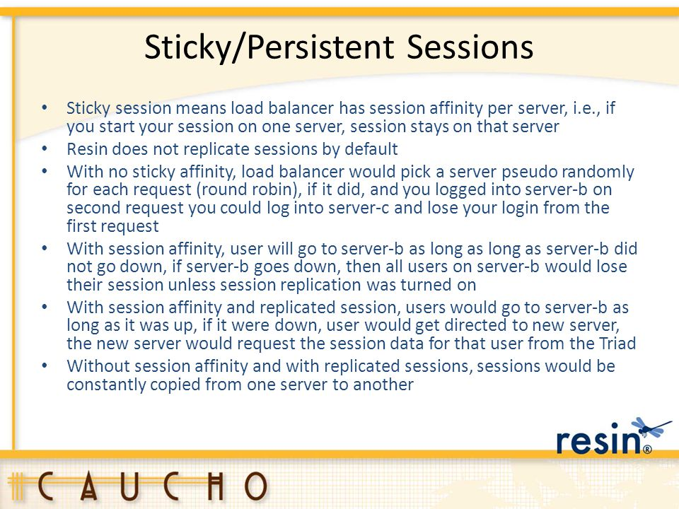 Sticky/Persistent Sessions
