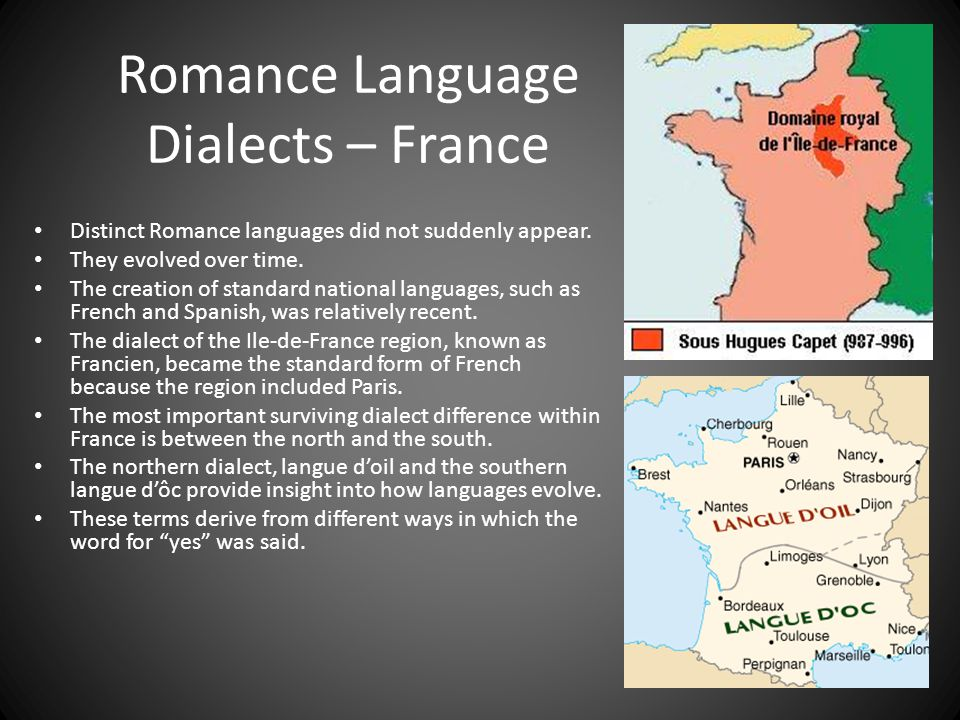 Romance Language Dialects – France