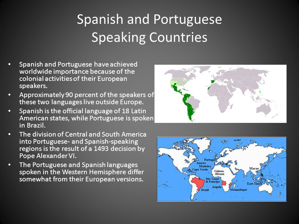 Spanish and Portuguese Speaking Countries