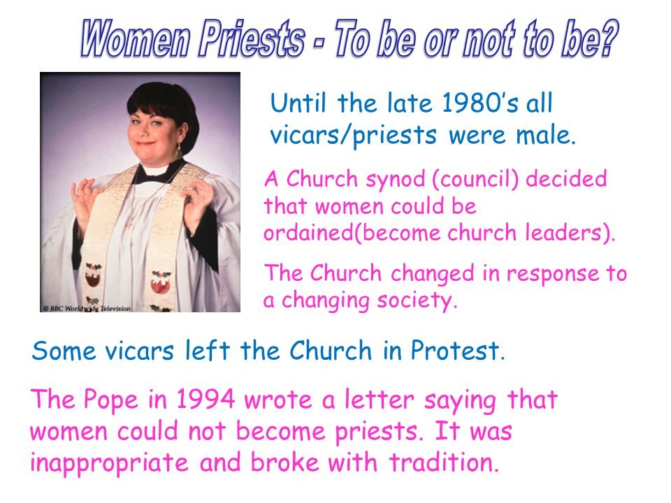 Women Priests - To be or not to be