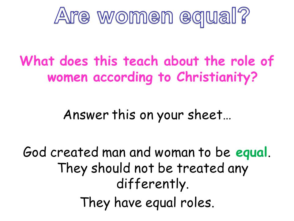 Are women equal