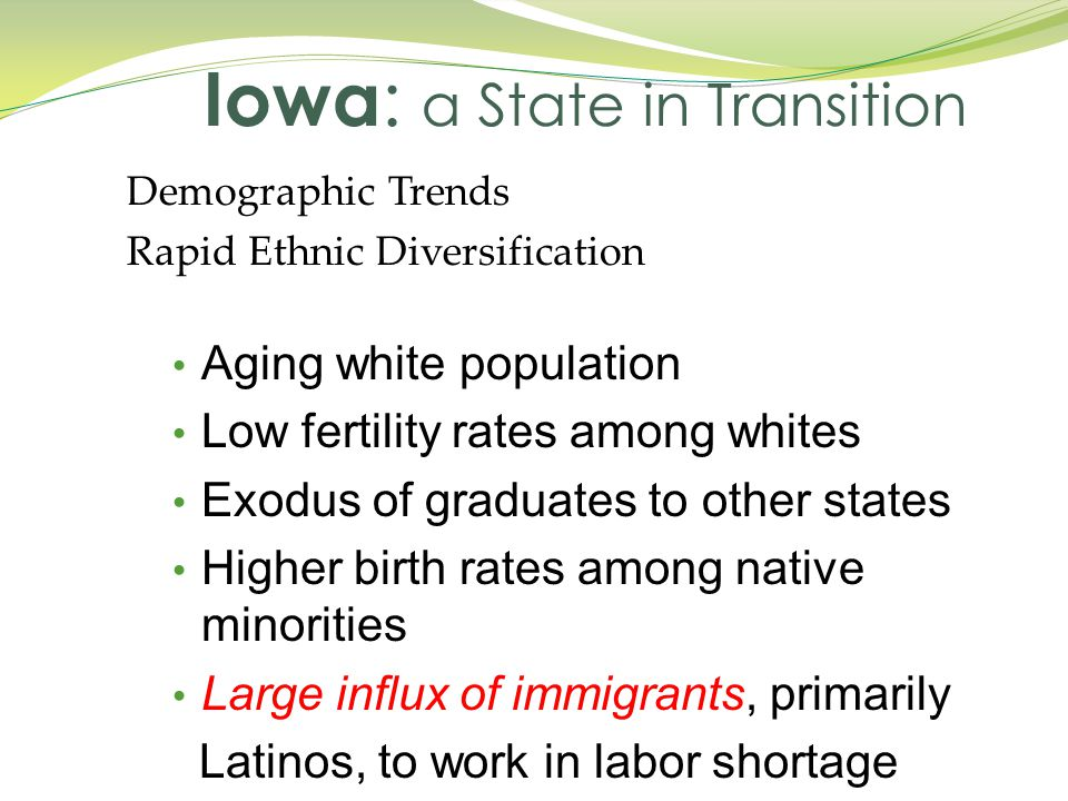 Iowa: a State in Transition