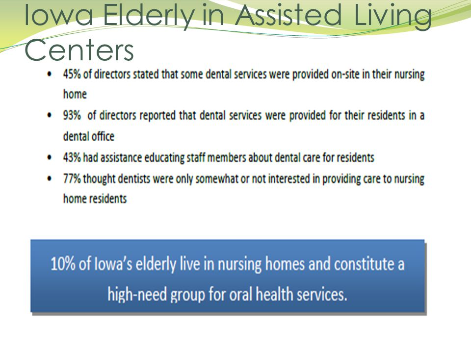 Iowa Elderly in Assisted Living Centers