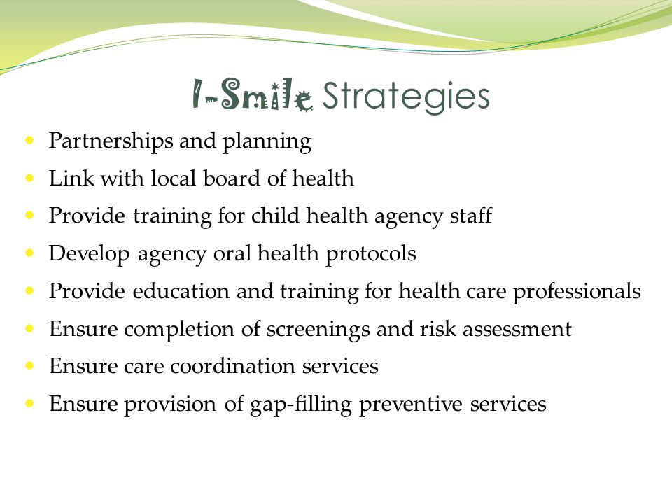 I-Smile Strategies Partnerships and planning