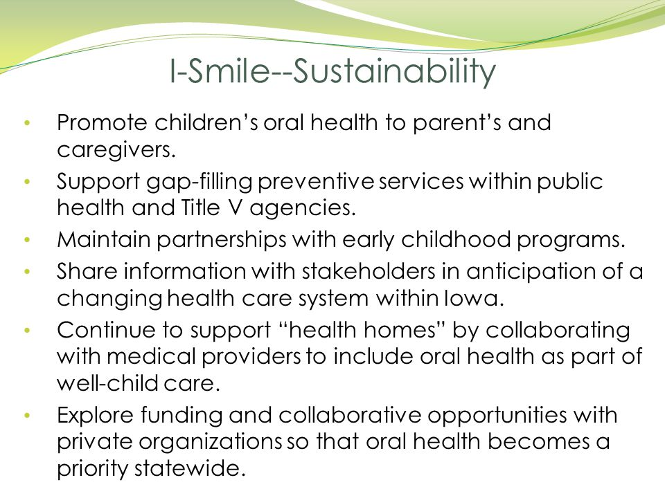 I-Smile--Sustainability