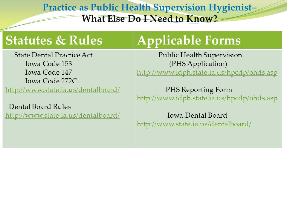 Statutes & Rules Applicable Forms