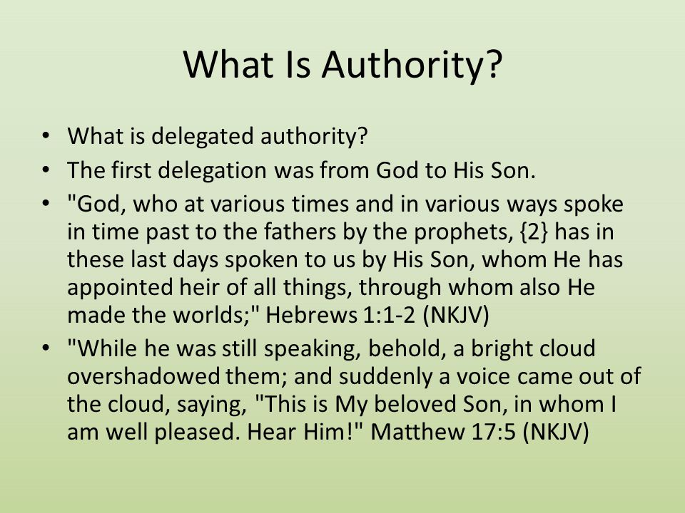 What Is Authority What is delegated authority