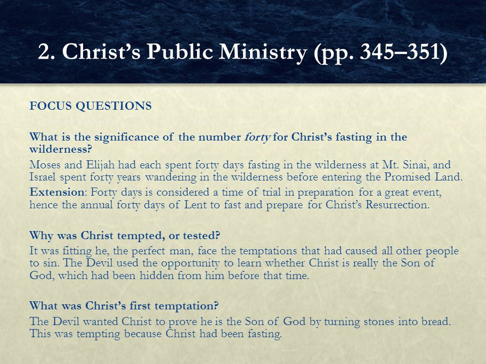 2. Christ's Public Ministry (pp. 345–351)