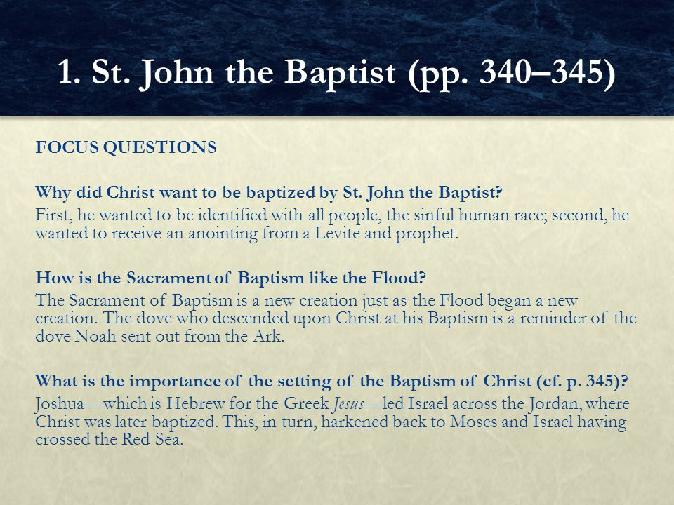 1. St. John the Baptist (pp. 340–345)
