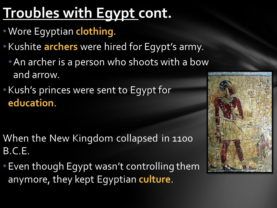 Troubles with Egypt cont.