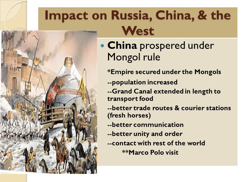 Impact on Russia, China, & the West