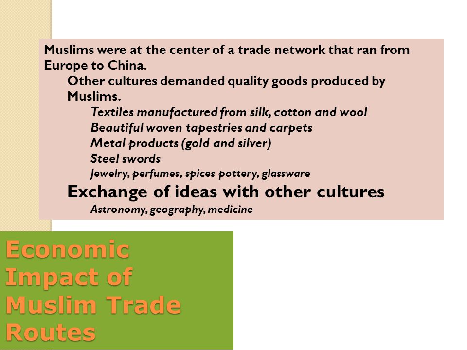 Economic Impact of Muslim Trade Routes