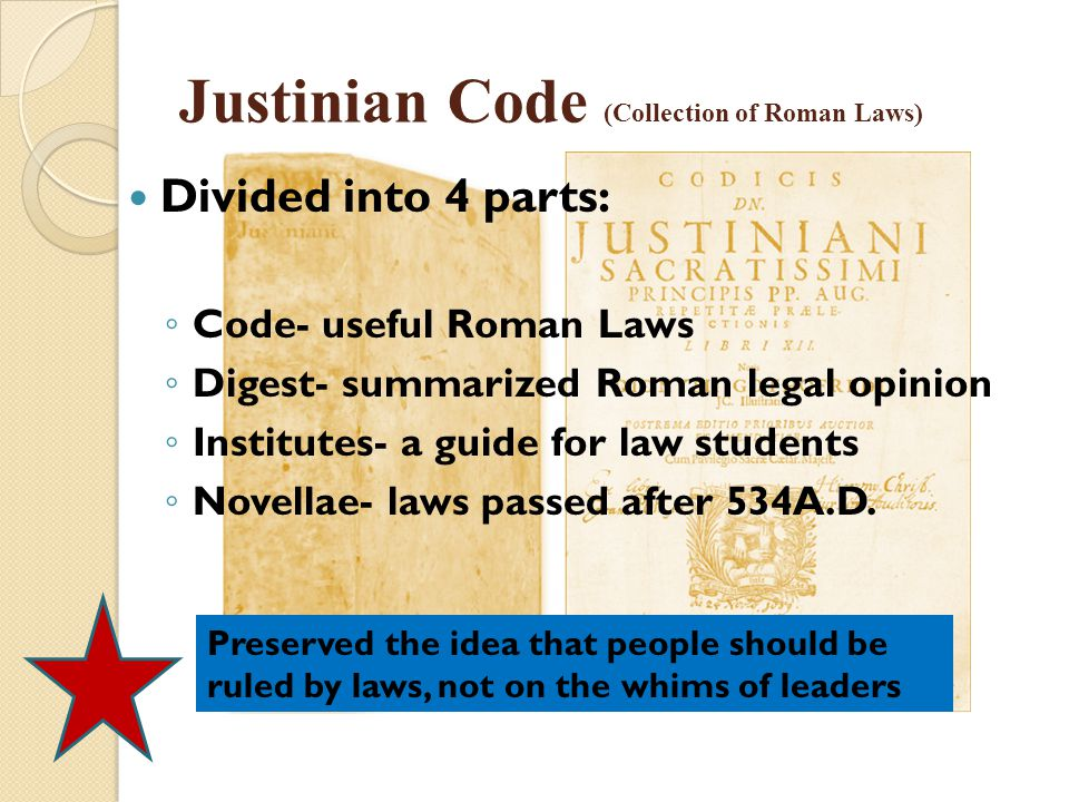 Justinian Code (Collection of Roman Laws)