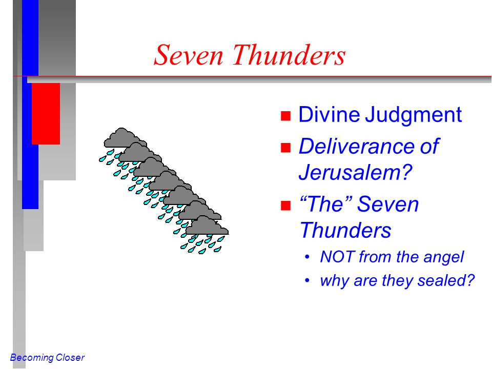 Seven Thunders Divine Judgment Deliverance of Jerusalem