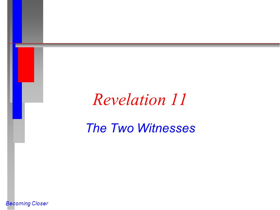 Revelation 11 The Two Witnesses