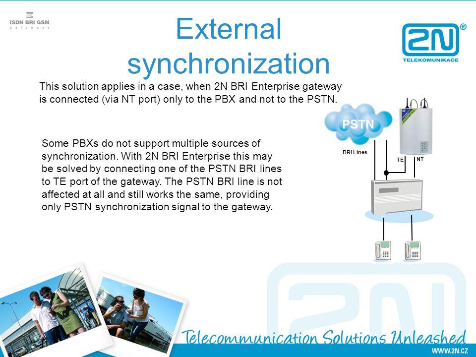 External synchronization