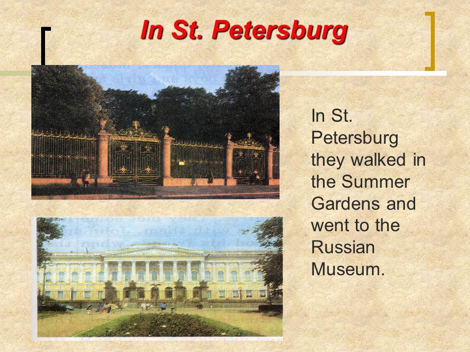 In St. Petersburg In St.