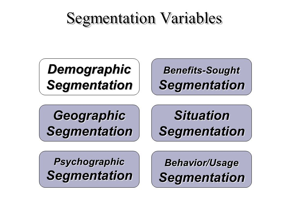 Segmentation Variables