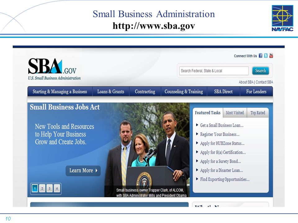 Small Business Administration http://www.sba.gov