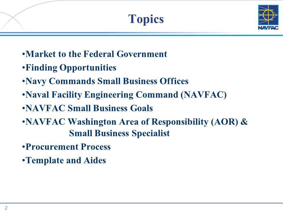 Topics Market to the Federal Government Finding Opportunities