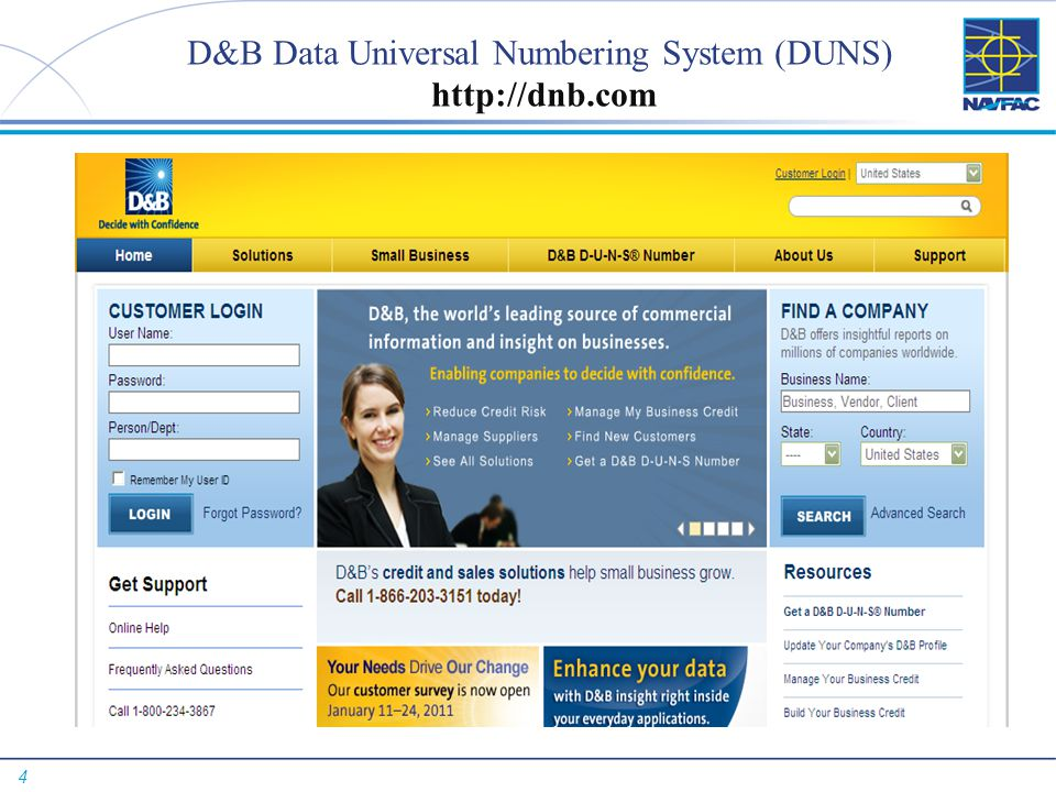 D&B Data Universal Numbering System (DUNS) http://dnb.com