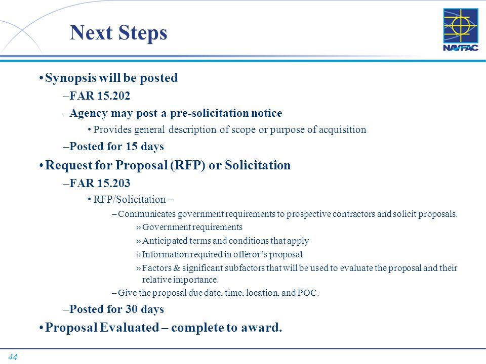 Next Steps Synopsis will be posted