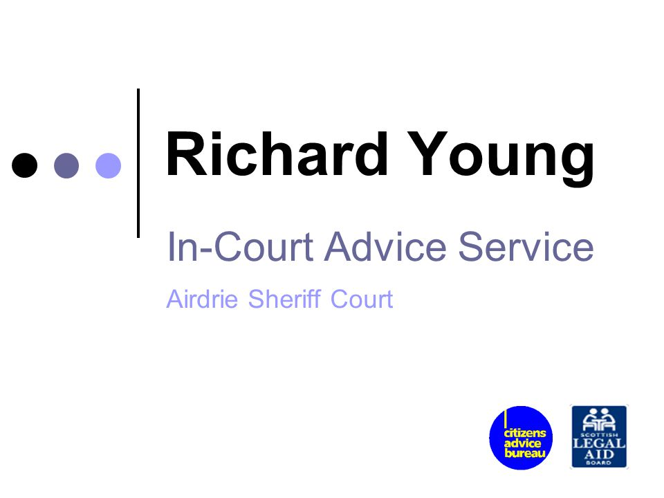 In-Court Advice Service Airdrie Sheriff Court