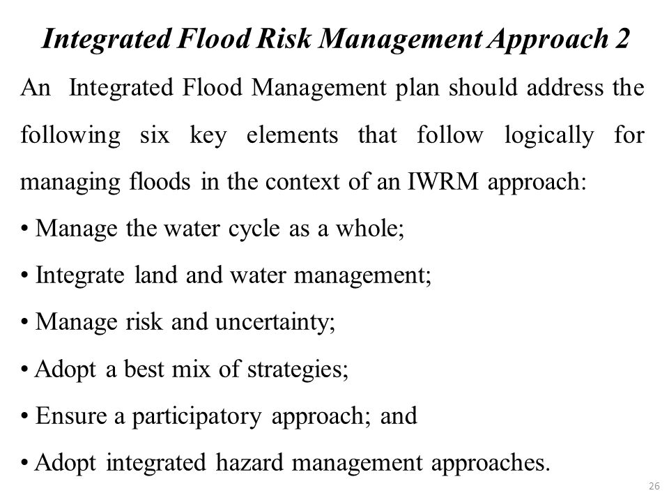 Integrated Flood Risk Management Approach 2
