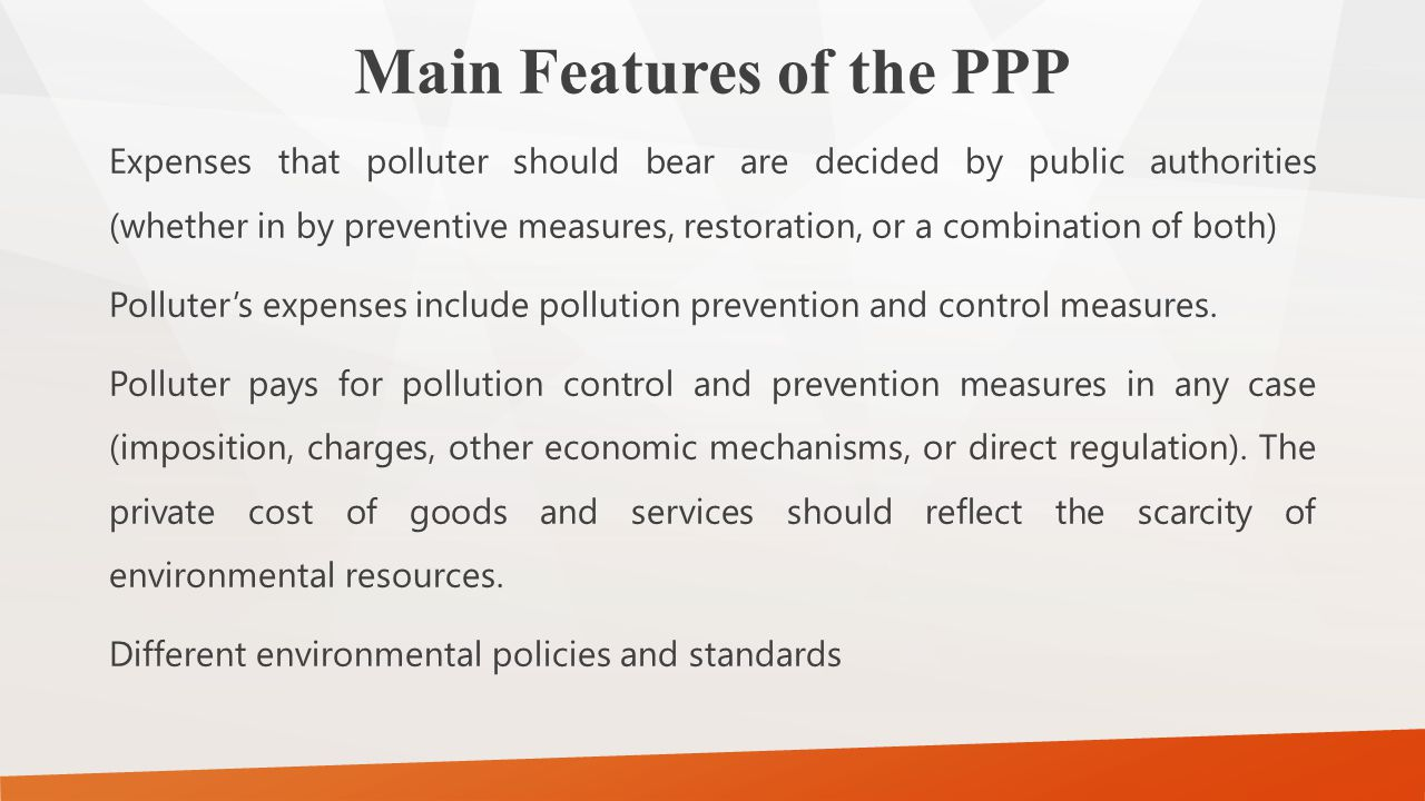 Main Features of the PPP