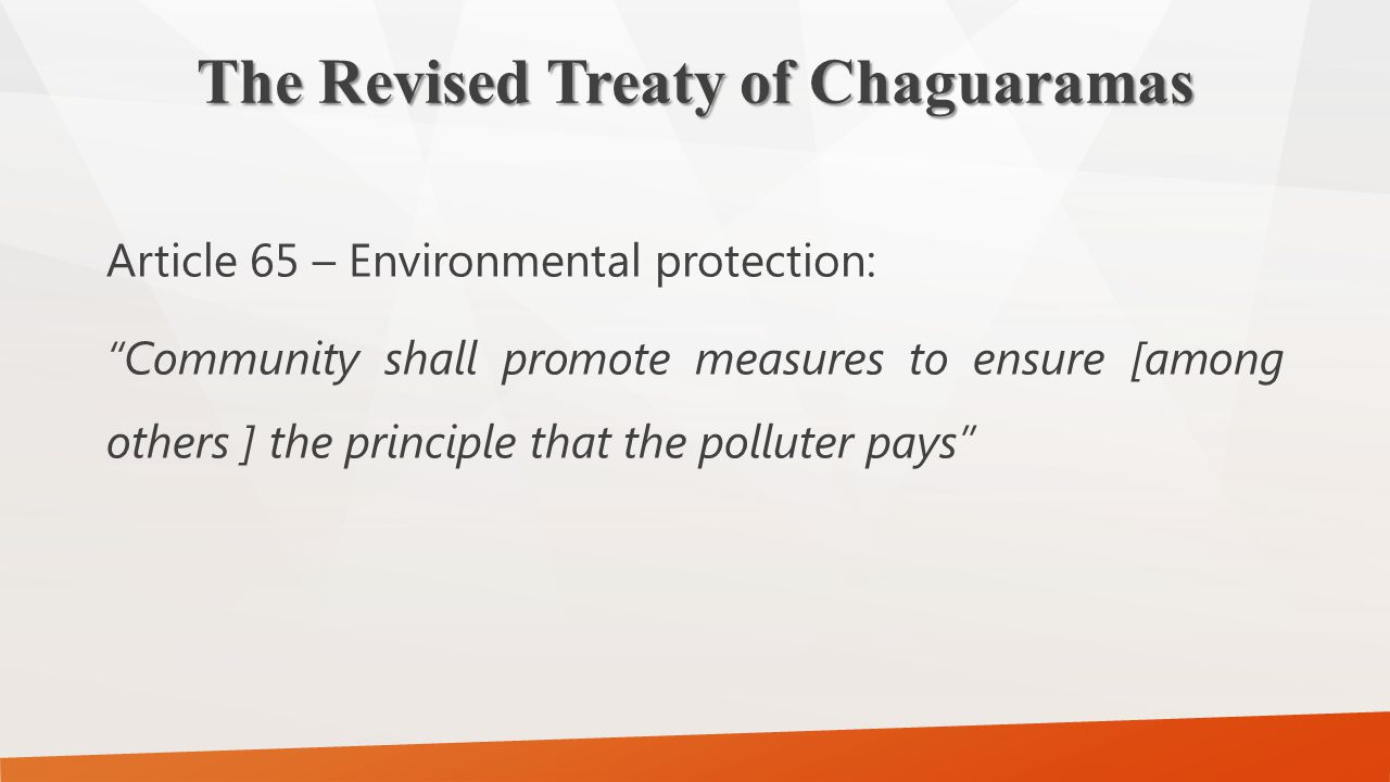 The Revised Treaty of Chaguaramas