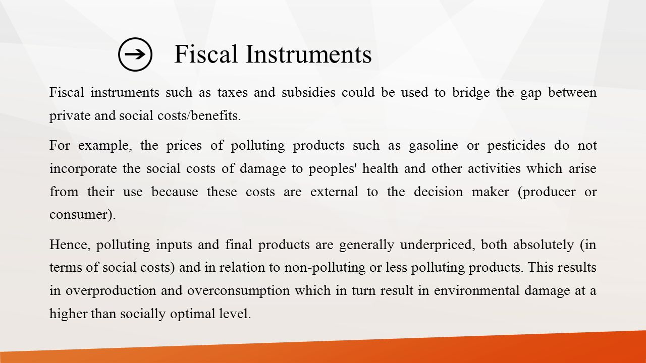 Fiscal Instruments