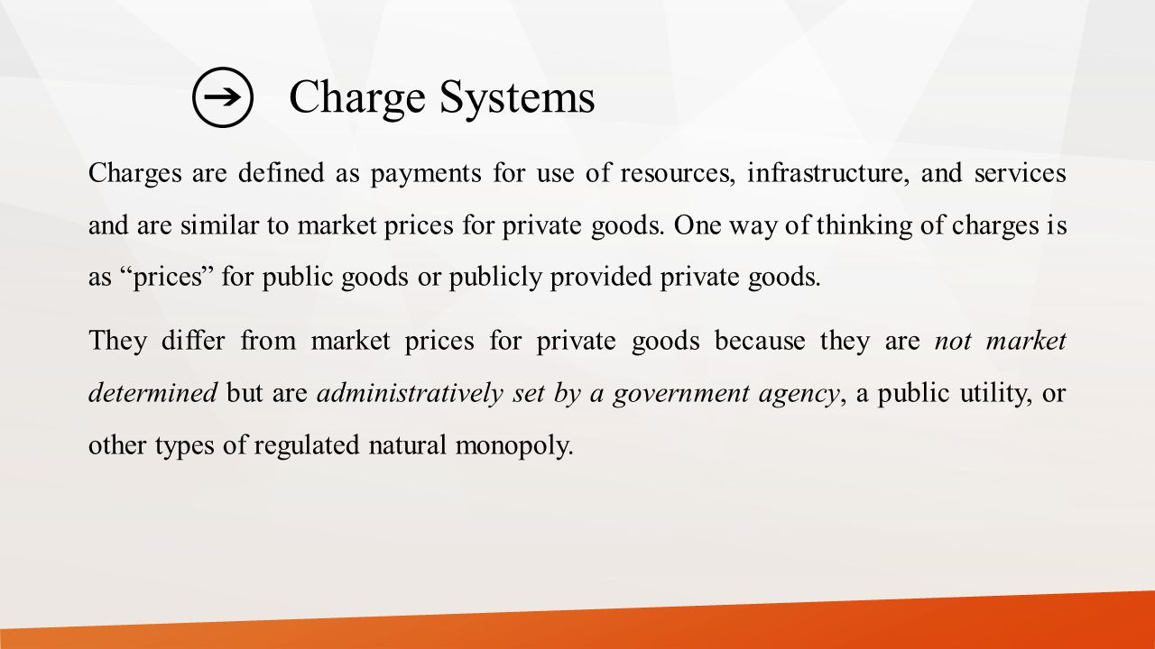Charge Systems