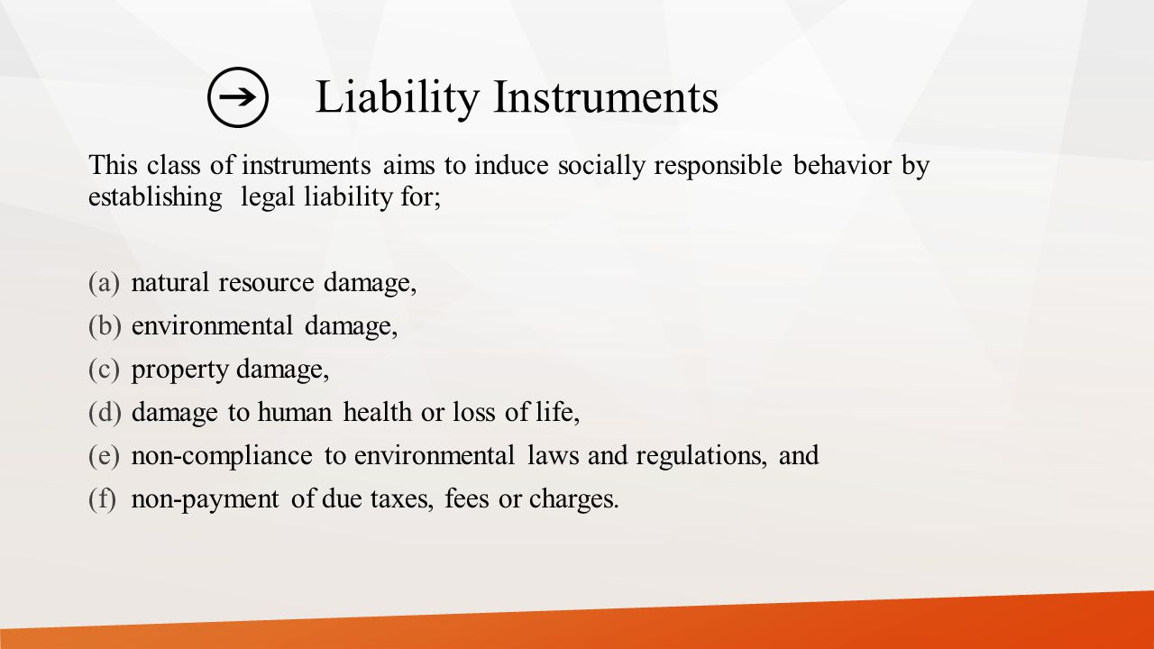 Liability Instruments