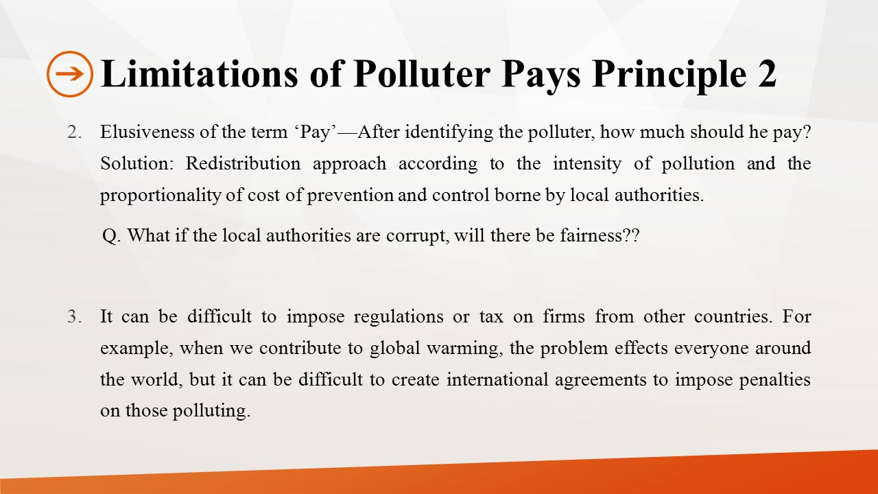 Limitations of Polluter Pays Principle 2