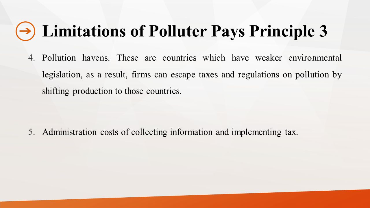 Limitations of Polluter Pays Principle 3