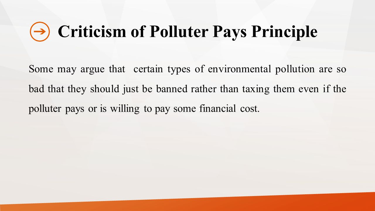 Criticism of Polluter Pays Principle