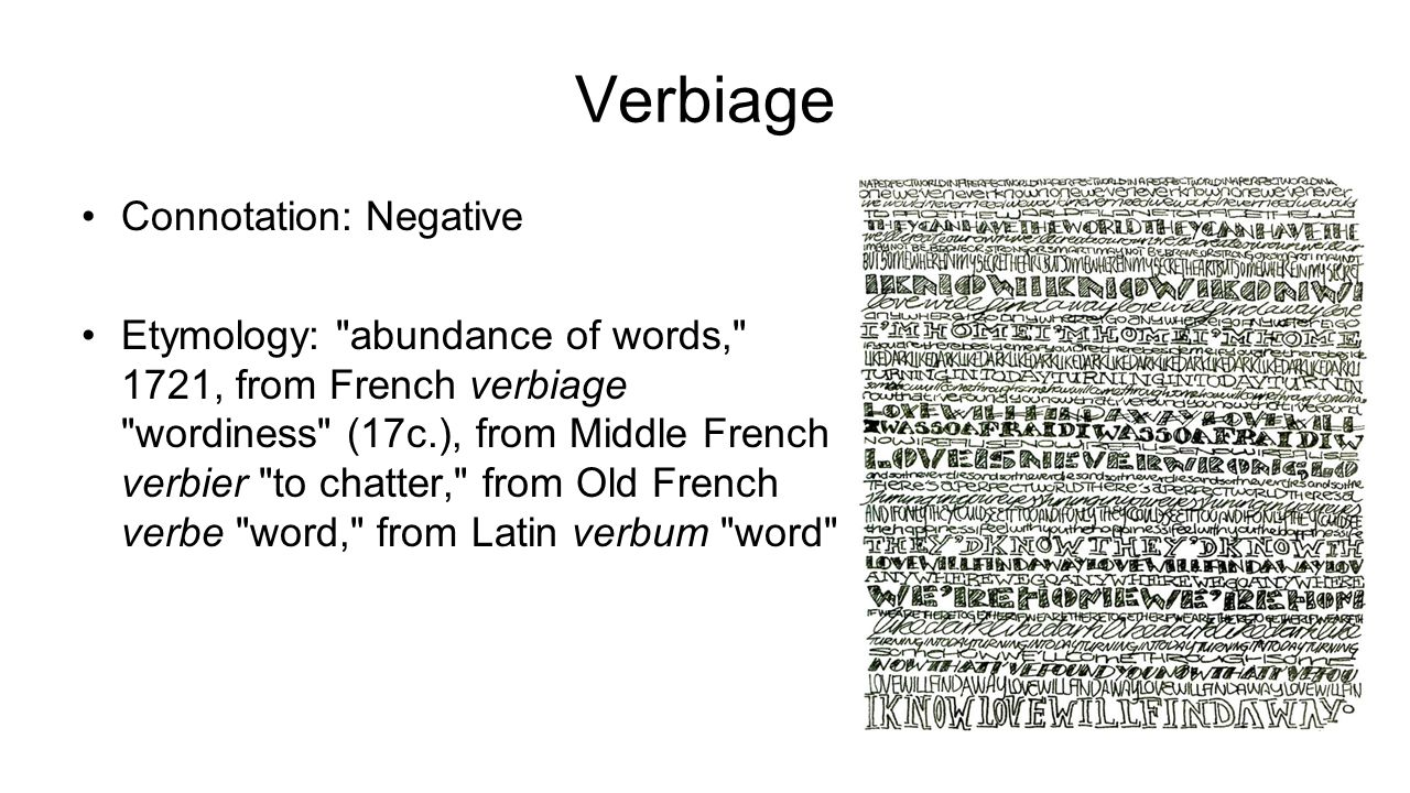 Verbiage Connotation: Negative