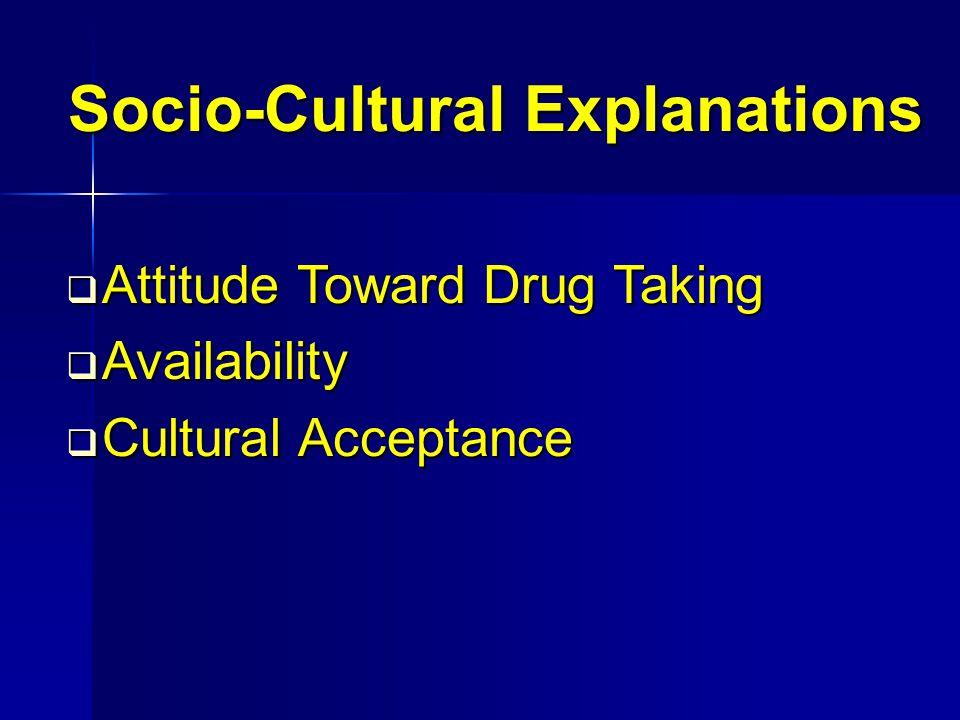 Socio-Cultural Explanations